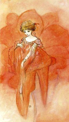 felixinclusis:  enchantingimagery:A painting by Yoshitaka Amano from The Virgin art-book.