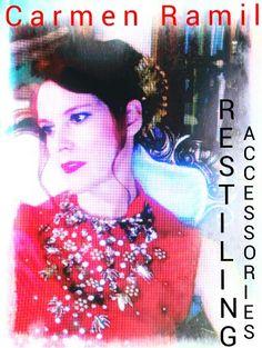 Vestido vintage bordado y pintado a mano por Carmen Ramil