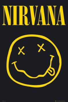 A great poster of a smiley face logo drawn by Nirvana front-man Kurt Cobain! Come as you are and check out the rest of our awesome selection of Nirvana posters! Need Poster Mounts. Nirvana Logo, Banda Nirvana, Nirvana Band, Nirvana Tattoo, Nirvana Lyrics, Rock Posters, Band Posters, Music Posters, Retro Posters
