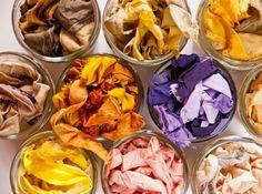Aujourd'hui encore, on peut utiliser les feuilles, les racines ou les écorces de certaines plantes pour fabriquer des colorants et de la teinture naturelle.