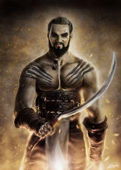 Khal Drogo Art Wallpaper