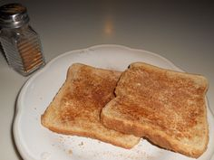 Toast with butter & cinnamon sugar - yes, please!