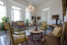 in La Habana, Cuba.  Villa La Loma is an exquisite architectural work of the year 18 of the last century whose ornaments and facades combine very well with the interiors, shining marble floors and Italian slabs, stucco columns that retain their original elegance    G...