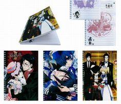 @Stephanie Cafarelli Kuroshitsuji Notebook [KUNB8820] - Notebooks - Stationaries - Anime Merchandise Anime-Gift.com
