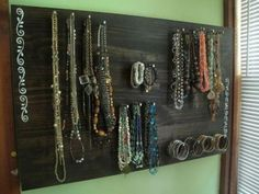 jewelry storage paint nails nail polish the heads to be less sharp? use horse shoe nails