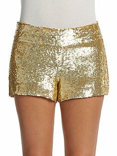 Haute Hippie Sequin Mini Shorts