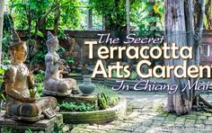 Lush green jungle and moss-covered clay artwork makes the The Terracotta Arts Garden in Chiang Mai feel like you've stepped into the past.