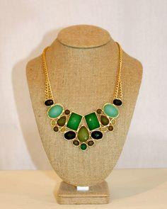 Green Gem Necklace by Violet Clover