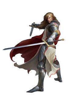 Human Knight Paladin - Pathfinder PFRPG DND D&D d20 fantasy