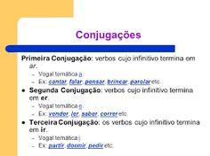 Afbeeldingsresultaat voor verbos da terceira conjugação