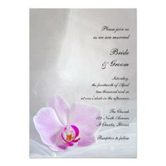 Invite your friends and family to your upcoming nuptials with the pretty #Pink #Orchid and Veil #Wedding #Invitation . Customize it with the personal names of the bride and groom and marriage ceremony information. This elegant custom botanical wedding invite features a digitally enhanced floral photograph of a pink phalaenopsis orchid flower blossom with a white bridal veil. Perfect for a classy pink flowery or orchid wedding theme. #orchidwedding #pinkwedding #weddinginvitations…