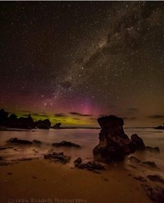 There's a few great shots of the AuroraAustralis on my feed from last night. This beautiful one is courtesy of @craig_richards_photography and was taken at The Crags near Port Fairy & Yambuk in the state's south west. #liveinvictoria #victoria #vic #portfairy #thecrags #yambuk #aurora #auroraaustralis #nightsky #lights #swvic #nature #amazing #lightshow #beautiful #scenic #love #australia #liveinaustralia by liveinvictoria