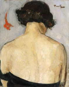 Nude Back - Nicolae Tonitza Romanian 1886 – 1940 Watercolour Painting, Painting & Drawing, Socialist Realism, Magic Realism, Political Art, Post Impressionism, Art Themes, Female Portrait, Cool Artwork