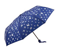 The Clifton Mini Maxi Folding Compact Royal Blue Birds is a compact and lightweight umbrella with a beautiful bird print.
