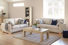 Sarah 2 Piece Fabric Lounge Suite