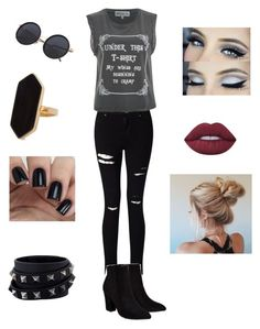 """""""Outfit #1"""" by micca-anne ❤ liked on Polyvore featuring Miss Selfridge, Wildfox, Billini, Lime Crime, Valentino and Jaeger"""