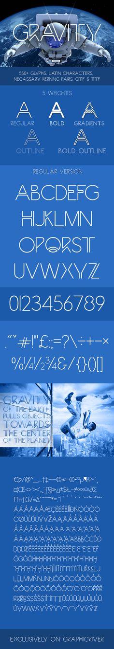 Gravity - Futuristic Typeface #type #letter Download: http://graphicriver.net/item/gravity/14006745?ref=ksioks
