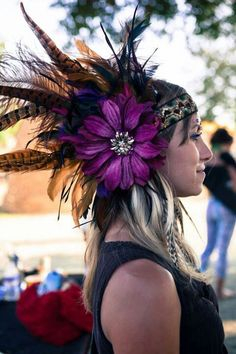 Headpiece at Lightning in a Bottle