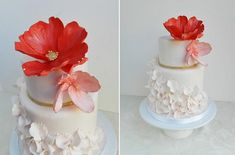 petal ruffles wedding cake by The Cake Whisperer, Canada