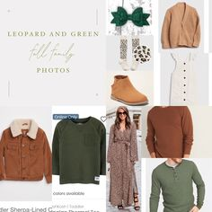 Leopard, brown, and green make for the perfect fall family photo session outfit. Fall Family Photo Outfits, Fall Family Photos, Family Photo Sessions, Sherpa Lined, Photo Online, Green And Brown, Family Photography, Families, Sweaters