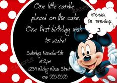 mickey mouse invitations