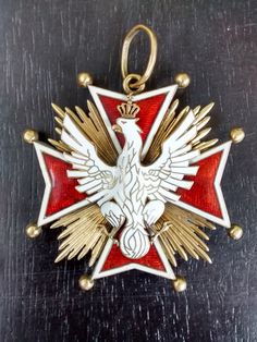 Order of the White Eagle / Order Orla Bialego -The highest decoration of Poland before partitions Order of the White Eagle / Order Orla Bialego The by VintageChurch Polish Tattoos, Poland, Lithuania, Maltese Cross, Star Decorations, Historical Maps, My Heritage, White Enamel, Coat Of Arms