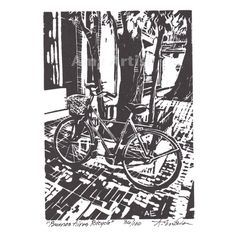 Original Limited Edition Linocut  Buenos Aires by amyartist, $15.00