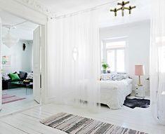 Afscheiding maken bed/ huiskamer