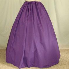 Renaissance Costume Skirt - Custom Color Skirt - Civil War Skirt - Peasant Skirt - Halloween Costume. $30.00, via Etsy.