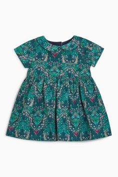 Buy Teal Printed Prom Dress (0mths-2yrs) online today at Next: United States of America