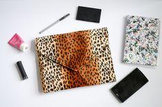 Leopard Print Envelope Clutch
