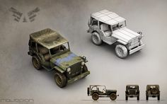 Jeep (Blue faction). Team Ravegan. Fan page: https://www.facebook.com/RaveganGames/photos_albums #3DModeling #3D