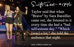 taylor swift facts | Taylor Swift & Sara Bareilles, I just about died. They are my favorites.