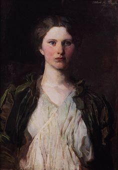"Abbott Handerson Thayer's ""Portrait of Bessie Price"". Beauty, grace, & passion, all invoked in one portrait."