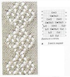"""Knitting pattern: """"bunch of leaves"""""""