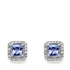 Earrings 50647: Rarities Carol Brodie 1.12Ct Tanzanite And Diamond Stud Earrings Hsn Sold Out -> BUY IT NOW ONLY: $99.99 on eBay!