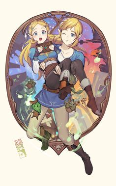 Zelda and Link The Legend Of Zelda, Legend Of Zelda Memes, Legend Of Zelda Breath, Ben Drowned, Link Zelda, Twilight Princess, Breath Of The Wild, Super Smash Bros, Cute Drawings