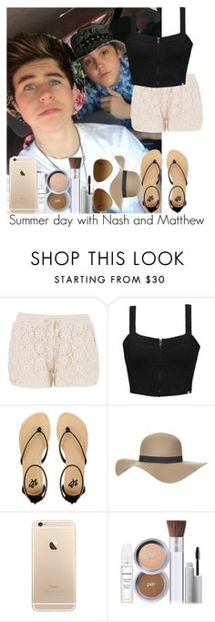 """Summer day with Nash and Matthew"" by irish26-1 ❤ liked on Polyvore featuring maurices, Element, 2b bebe, Topshop, PurMinerals and Ray-Ban"