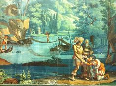French Scenic Wallpaper early 19th century, by Dufour