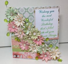 Beautiful #floral card made using the Stamps by Chloe. See the full range of products at Create & #Craft - http://www.createandcraft.tv/SearchGridView.aspx?fh_location=//CreateAndCraft/en_GB/$s=stamps%20by%20chloe&gs=stamps%20by%20chloe #papercraft#cardmaking