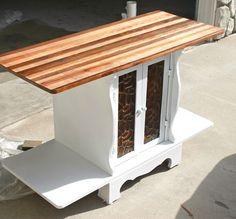 photos dresser butcher block top | cabinet with faux butcher block top