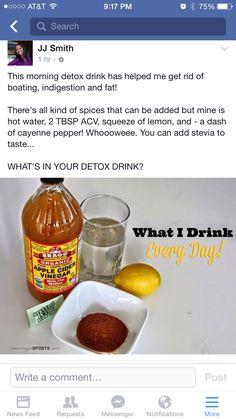 Detox drink courtesy of JJ Smith