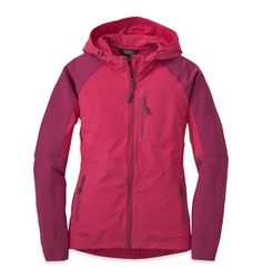 Outdoor Research Women's Ferrosi Hoody, Medium, Desert Sunrise/Sangria. Wind and Water Resistant. Breathable and Quick Drying. Left Hand Pocket Doubles as Stuff Sack. Hunting Hoodies, Outdoor Research, Hunting Clothes, Outdoor Woman, Outdoor Outfit, Sangria, Me Too Shoes, Work Wear, Hooded Jacket