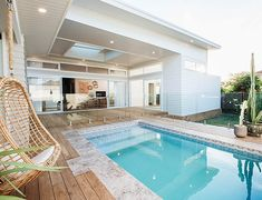 Home refurbishment can completely give a facelift to an otherwise old-looking house. Best Secrets Home Renovation Remodel Your Living Space Ideas. Outdoor Spaces, Outdoor Living, Living Pool, Living Fence, Backyard Beach, Home Modern, Home Reno, House Goals, Interior Exterior