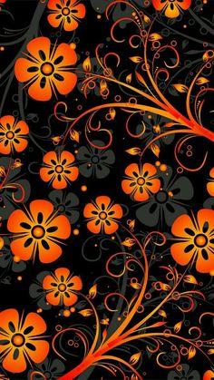 Flowery Wallpaper, Orange Wallpaper, Flower Phone Wallpaper, Sunflower Wallpaper, Graphic Wallpaper, More Wallpaper, Cellphone Wallpaper, Colorful Wallpaper, Photo Wallpaper