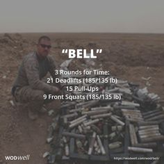 """Bell"" WOD - 3 Rounds for Time: 21 Deadlifts (185/135 lb)"