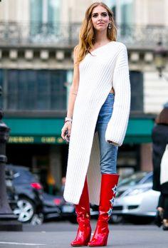 Look de Chiara Ferragni na Paris Fashion Week.