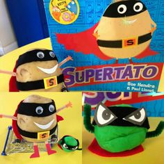 We're reading Supertato this week and the children have loved the story so much! We've set up a little inspiration for them - hopefully they will enjoy writing speech bubbles for he characters! World Book Day Ideas, People Who Help Us, Story Sack, Superhero Classroom, School Displays, Primary Teaching, School Subjects, Speech Therapy Activities, Spring Activities