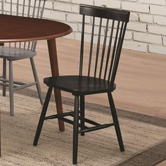 Amazon.com: Emmett Casual Wood Veneers and Solids Dining Side Chair with Spindle Back and Block Legs: Furniture & Decor
