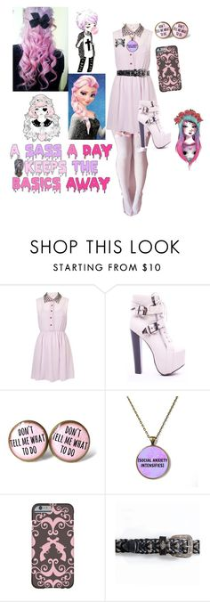 """Pastel Goth"" by blackveilbridesbvbsixx ❤ liked on Polyvore featuring Timberland, Monday and Disney"